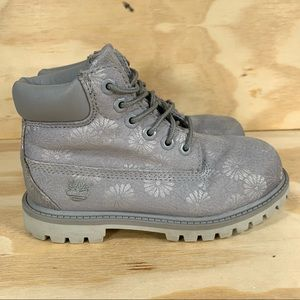 Timberland 6 Inch Classic Floral Gray Boots